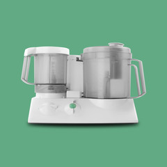 Home appliance - Food processor isolated green background
