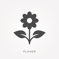 Silhouette icon flower