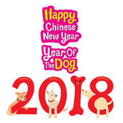 Happy Chinese New Year, Year Of The Dog 2018, Traditional Celebration, China, Spring Festival, Animal