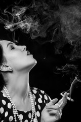 woman smoking joint