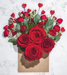 Valentine bouquet of rose