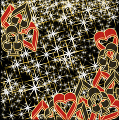 Poker casino background, vector illustration