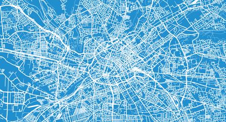 Urban vector city map of Manchester, England Wall mural
