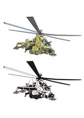 cartoon strike helicopter