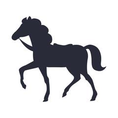 Cartoon Horse Vector Illustration Isolated White