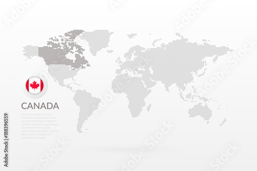Vector world map infographic with maple leaf symbol canadian flag vector world map infographic with maple leaf symbol canadian flag icon international global illustration gumiabroncs Images