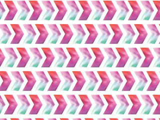 Vector pattern. Modern stylish texture. Repeating geometric tiles with watercolor zigzag. Trendy hipster background.