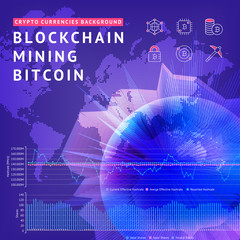 Abstract background on the theme of blockchain and crypto currency