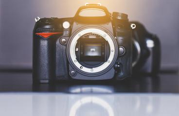 Digital DSLR camera,Close up photo