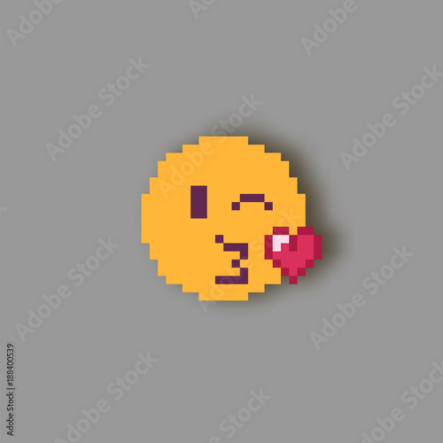 Pixel Art Smile Stock Image And Royalty Free Vector Files