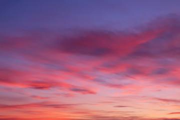 orange blue evening sky
