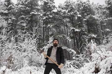 skincare and beard care in winter, beard warm in winter.