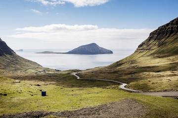 Scenery of seashore and island