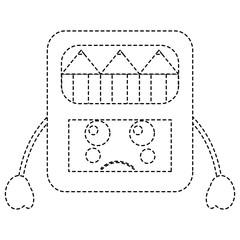 pencils in box kawaii character vector illustration sticker design