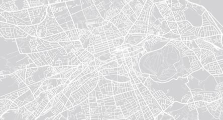 Urban vector city map of Edinburgh, Scotland Wall mural