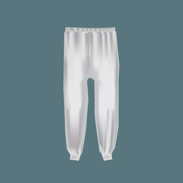 Mock-up men's clothing, templates. Men's sports pants for active sports.