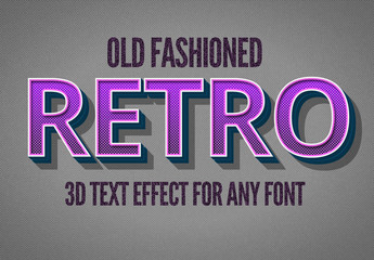 Violet Retro Style Text Effect