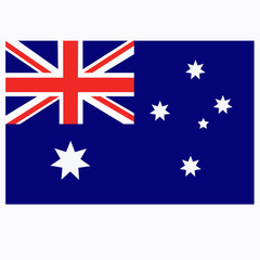 Bright background with flag of Australia. Happy Australia day background. Illustration.
