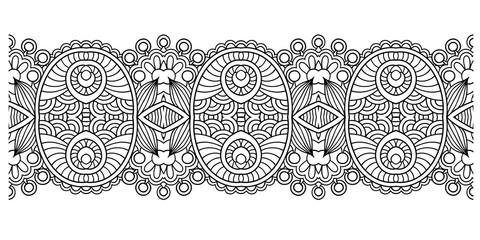 decorative ornate design stripe pattern, ethnic floral seamless