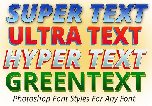 4 Super Text Font Styles