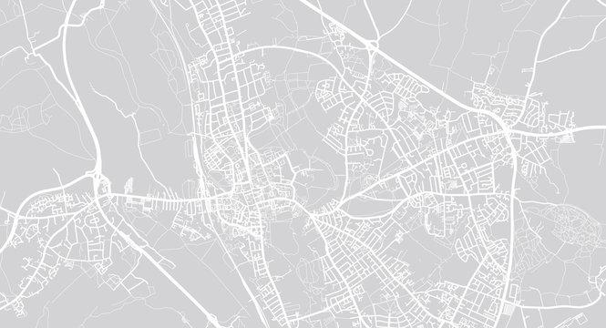 Urban vector city map of Oxford, England