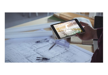 Builder Using Tablet Mockup 1