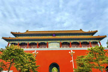 Duanmen Upright Gate Gugong Forbidden City Palace Beijing China