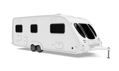 Camper Trailer Isolated