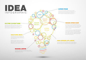 Abstract Lightbulb Infographic Layout 2