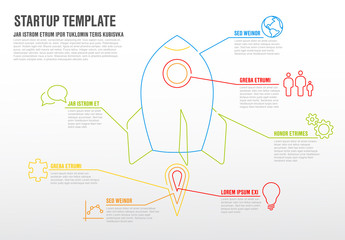 Abstract Rocket Ship Infographic Layout