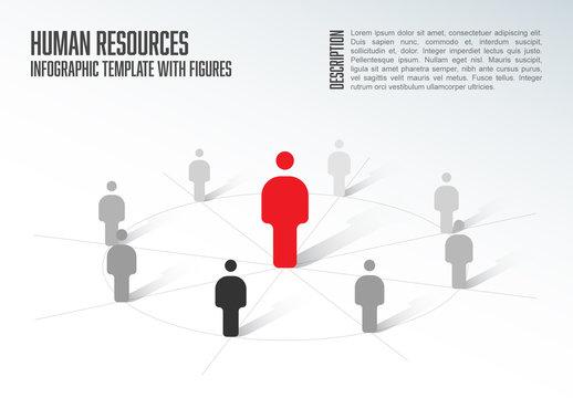 Organizational Chart Infographic Layout 1