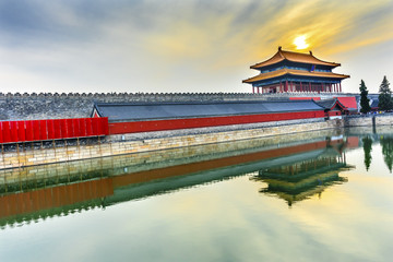 Rear Gate Heavenly Purity Gugong Forbidden City Palace Beijing China