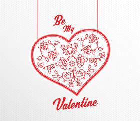 Happy Valentine's Day vector illustration.