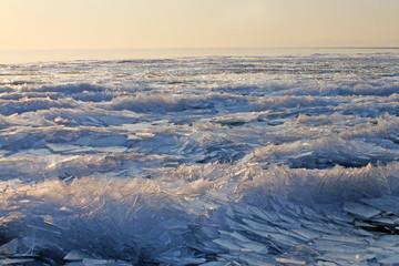 Lake Balaton in Winter, Hungary. Winter landscape.