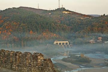 Hydroelectric power station at Rioni river near Kutaisi. Imereti Province. Georgia