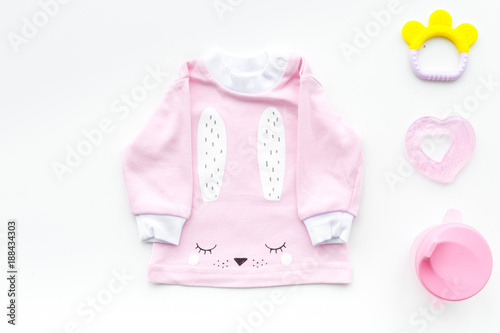 c6eb1d92766e Cute pink baby clothes for girl. Shirt