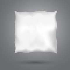 Square pillow with shadow on dark gray background for good, healthy sleep