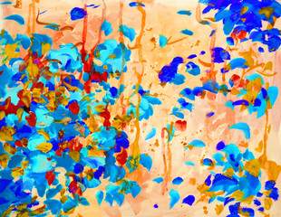 decorative abstract watercolor painting for interior, illustration