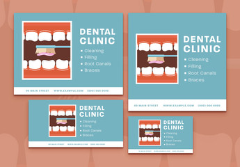 Dental Clinic Social Media Post Set 2