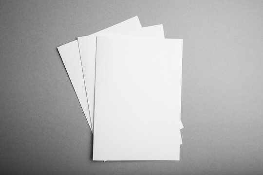 Blank catalog, magazine, book template with soft shadows. Empty mock-up.