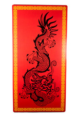 A red dragon sign for Chinese New Year