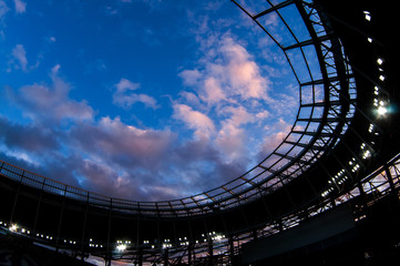 Clouds over the new stadium Dynamo