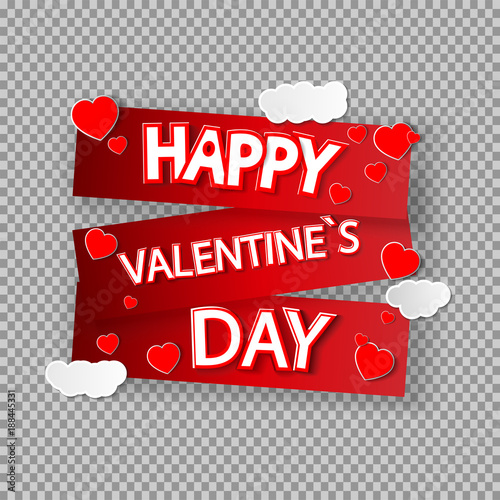 Eps 10 Vector Happy Valentine S Day Illustration Red Falling Hearts