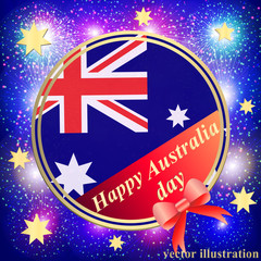 Happy Australia day background. Blue Illustration.