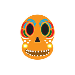 Mexican skull icon