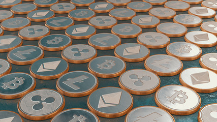 Blockchain Cryptocurrency Background