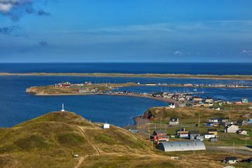 Beautiful view of Havre aubert in Iles de la Madeleine