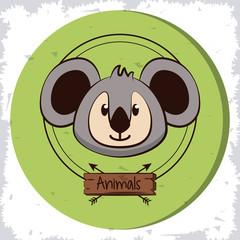 Cute koala cartoon icon vector illustration graphic design