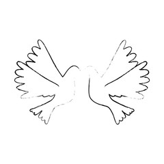 doves flying isolated icon vector illustration design