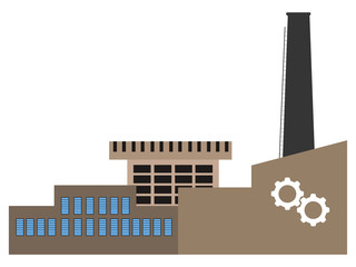 Front view of a factory